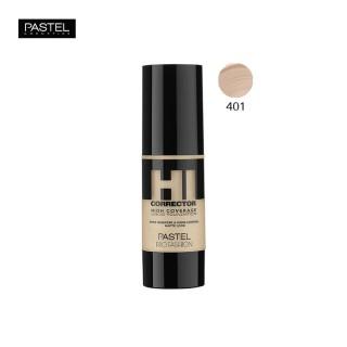 Pastel Pro Fashion Hi Corrector High Coverage Liquid Foundation Color 401