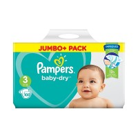 Pampers Baby Dry Size 3 (6 - 10 Kg) Jumbo + Baby Diapers Belt Nappies 100 pcs (UK)