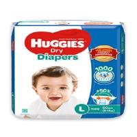 Huggies Dry Diaper  L (9-14 Kg) 60 pcs (Malaysia)