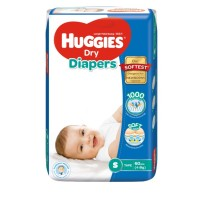 Huggies Dry Diapers S (4 - 8 Kg) 60 pcs (Malaysia)