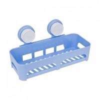 Suction Cup Colorized Storage Plastic Bathroom Shelf Basket Rack Organizer