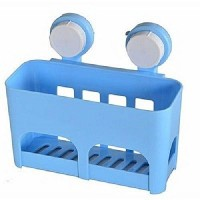Multi-functional Wall Mount Drainage Storage Basket With Suction Cups