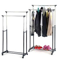 Stainless Steel Double-Pole Telescopic Clothes Rack