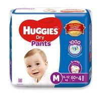 Huggies Dry Pants M, 6 12 Kg, 64 pcs, Malaysia