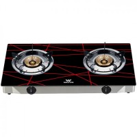 Walton WGS-GNS2 (LPG / NG) Black-Net Glass Top Double Burner