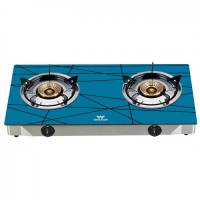 Walton WGS-GNS2 (LPG / NG) Sky Blue-Net Glass Top Double Burner