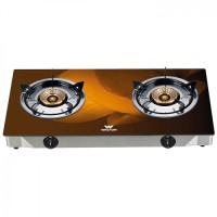 Walton WGS-3GNS1 (LPG / NG) Coffee 3D Glass Top Double Burner
