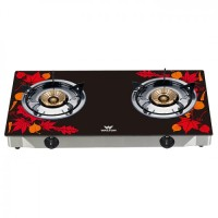 Walton WGS-GNS1 (LPG / NG) Maple Leaf Glass Top Double Burner