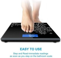 Care Personal Digital Bathroom Weighing Scale Machine with Step on Technology for Accurate Body Weight Monitor Tempered Glass Digital Scale