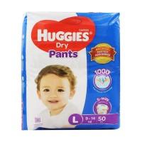 Huggies Dry Pants Baby Diaper Pant L 9-14 Kg 50 Pcs Malaysia
