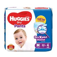 Huggies Dry Pants Baby Diaper Pant M 6-12 kg 64 Pcs Malaysia