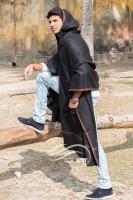 Gens Hoodie Shawl (Black)