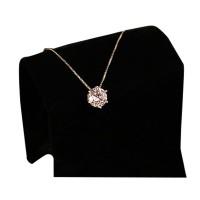Diamond Natural Stone Water Drop Geometric Shape Pendant Necklace For Women - Silver