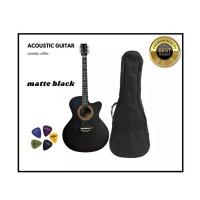 Matte Black Premium Acoustic Guitar -Black 2021 Edition
