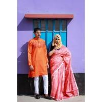 Fashionable Couple Set (Deep & Light Orange)