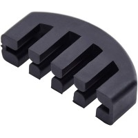 Violin Viola Rubber Practice Mute Violin Practice Mute Dampening Sound Mutes For Beginners (Black)