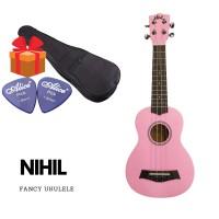 Nihil 21 Inch Soprano Fancy Ukulele (Pink)