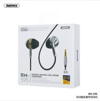 Original Remax RM-595 Double Moving-Coil Wired Earphone